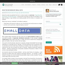 What Do We Mean By Small Data