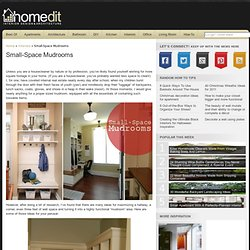 Small-Space Mudrooms