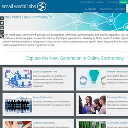 Small World Labs Community - Small World Labs