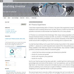 smalldog investor: M1 Finance Experiment