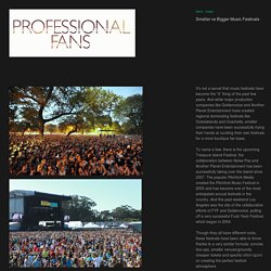 Smaller vs Bigger Music Festivals - Professional Fans