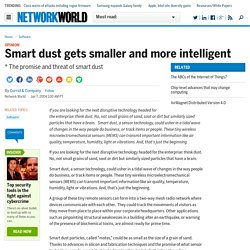 Smart dust gets smaller and more intelligent