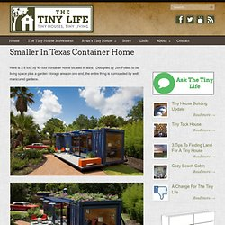 Smaller In Texas Container Home