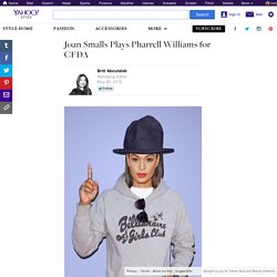 Joan Smalls Plays Pharrell Williams for CFDA