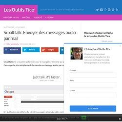 SmallTalk. Envoyer des messages audio par mail