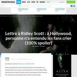 Avis sur le film Alien : Covenant (2017) par SmallThingsfr - SensCritique