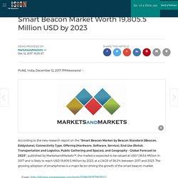 Smart Beacon Market Worth 19,805.5 Million USD by 2023