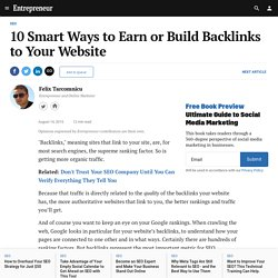 10 Smart Ways to Earn or Build Backlinks to Your Website