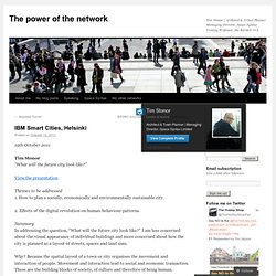 IBM Smart Cities, Helsinki | The power of the network