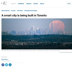A smart city is being built in Toronto