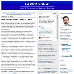 What Smart Contracts Need to Learn - Lawbitrage