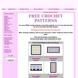 SMART CROCHET - free crochet patterns
