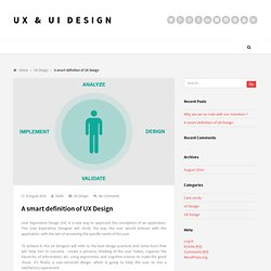 A smart definition of UX Design