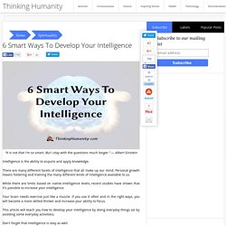 6 Smart Ways To Develop Your Intelligence