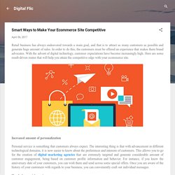 Smart Ways to Make Your Ecommerce Site Competitive