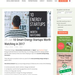 10 Smart Energy Startups Worth Watching in 2017