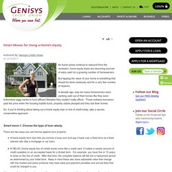 Smart Moves for Using a Home's Equity - Genisys® Credit Union