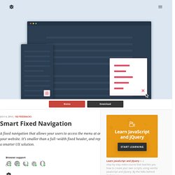 Smart Fixed Navigation