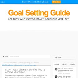 Learn How To Make Your Goals SMART