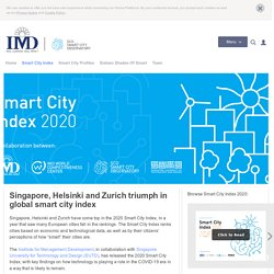 Smart City Index 2020 by IMD Business School
