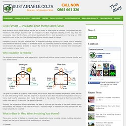Live Smart - Insulate Your Home and Save
