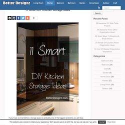 11 Smart DIY Kitchen Storage Ideas