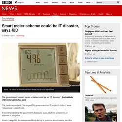 Smart meter scheme could be IT disaster, says IoD - BBC News