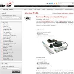 New Smart Metering sensor board for Waspmote