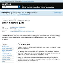 Smart meters: a guide - Detailed guidance