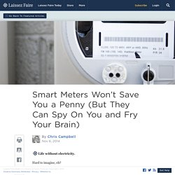 Smart Meters Won't Save You a Penny (But They Can Spy On You and Fry Your Brain)