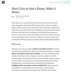 Don't Live at Just a Home, Make it Smart - Noida Contractor - Medium