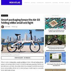 Smart packaging keeps the Air-33 folding eBike small and light