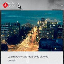 La smart city : portrait de la ville de demain
