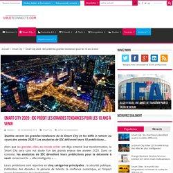 Smart City 2020 : IDC prédit les grandes tendances pour les 10 ans à venir