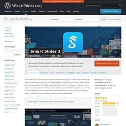 Smart Slider 3 — WordPress Plugins