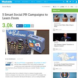 5 Smart Social PR Campaigns to Learn From