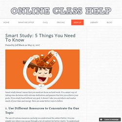 Smart Study: 5 Things You Need To Know