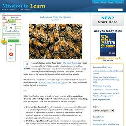 Smart Swarm by Peter Miller – 10 Lessons