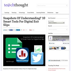 10 Smart Tools For Digital Exit Slips