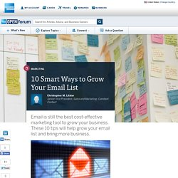 10 Smart Ways to Grow Your Email List