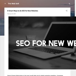 8 Smart Ways to do SEO for New Websites