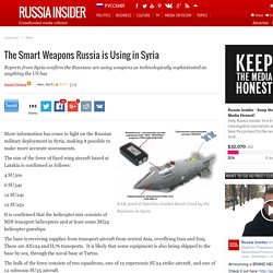 The Smart Weapons Russia is Using in Syria