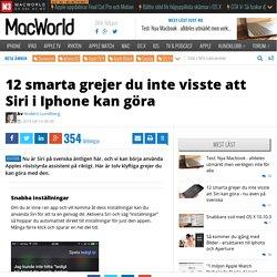 2 smarta grejer du inte visste att Siri i Iphone kan göra