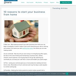 10 reasons to start your business from home