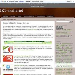 Smarta tillägg för Google Chrome