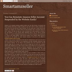 You Can Reinstate Amazon Seller Account by Smartamzseller