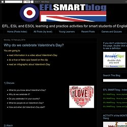 The EFL SMARTblog: Why do we celebrate Valentine's Day?