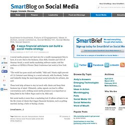 SmartBlog on Social Media - Best practices, case studies and insights on social media marketing for business