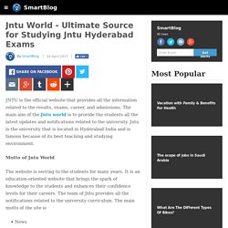 Jntu World - Ultimate Source for Studying Jntu Hyderabad Exams