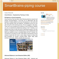 SmartBrains-piping course: Smart Brains - Engineering Training in India